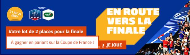 Quarts de finale de la Coupe de France avec PMU du 25 février au 1er mars 2018