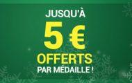 Pariez sur les JO de Pyeongchang avec Unibet : Gagnez entre 2€ et 5€ à chaque médaille française