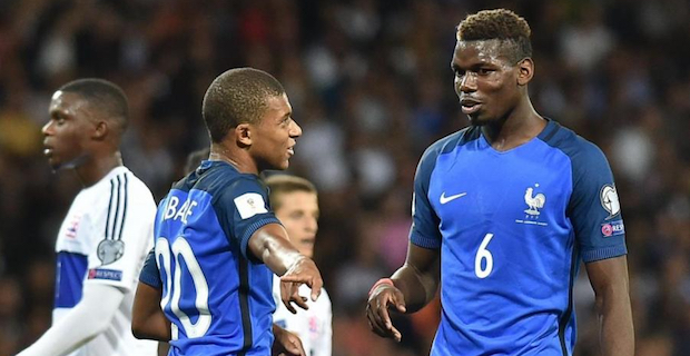 Pogba et Mbappe ont la confiance du sélectionneur de l'équipe de France