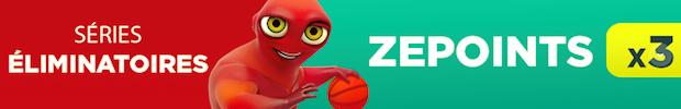 ZEpoints X3 lors des playoffs 2018 de NBA avec ZEBet