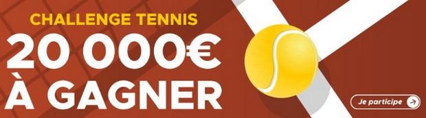 20.000€ mis en jeu par Betclic pour Roland Garros