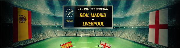 Promo spéciale finale de la Ligue des Champions Madrid/Liverpool sur Bwin jusqu'au 26 mai