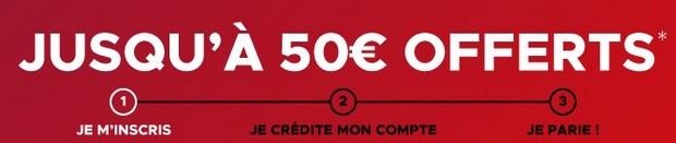 50 euros offerts sans code avantage Betclic sport