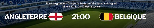 Analyse du match entre l'Angleterre et la Belgique du 28 juin