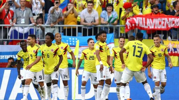 la Colombie face à l'Angleterre en coupe du monde 2018