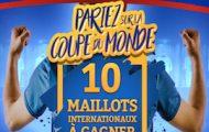 Misez sur le Mondial 2018 avec France Pari : 10 maillots internationaux de foot mis en jeu
