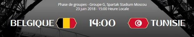 Belgique face à la Tunisie