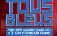 Faites un dépôt sur Winamax du 31/05 au 14/06 : jusqu'à 100€ offerts si la France remporte le Mondial 2018