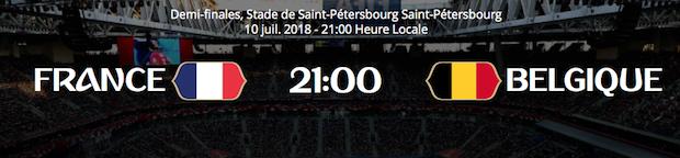 France/Belgique, 1/2 finale du Mondial 2018 le 10 juillet à 20 heures