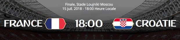 Finale de la CdM 2018 entre la France et la Croatie