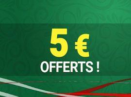 Offre Cocorigoal sur Unibet avec 5€ à gagner le 11 juillet 2018
