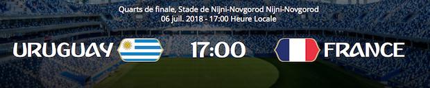 Le pronostic pour Uruguay/France le vendredi 6 juillet