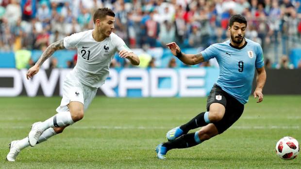 La France a fait souffrir l'Uruguay