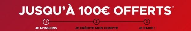 100 euros offerts sans code avantage Betclic sport