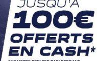 Code promo Parions web FDJ Sport : 100 euros cash offerts sur vos paris sportifs