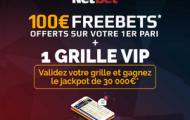 Bonus Netbet Sport : 105€ de paris sportifs offerts +1 grille VIP type loto foot avec le code promotionnel