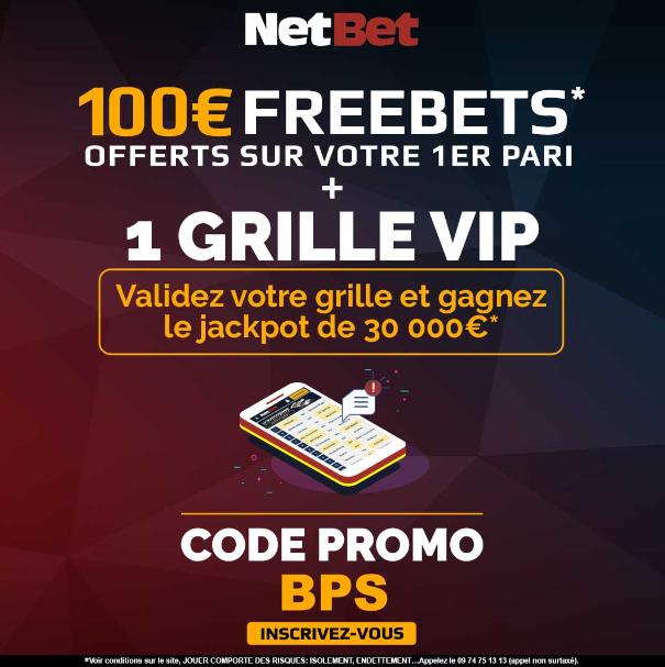 code 5 euros sans dépôt NetBet