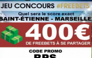 Participez gratuitement jusqu'au 16 janvier 2019 à notre Concours de Prono sur ASSE/OM : 400€ de paris gratuits offerts par NetBet