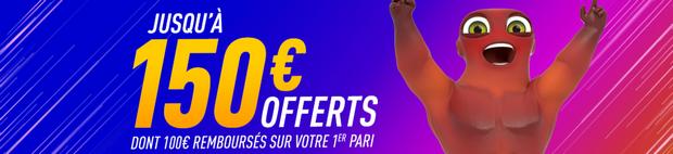 150€ offerts avec le code bonus Zebet