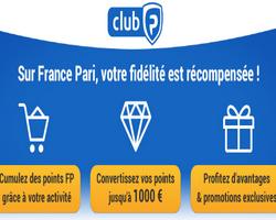 le club france pari vous fait gagner jusqu'à 100 € par mois grâce aux points que vous accumulez