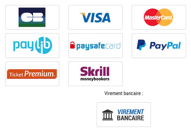 Moyens de paiement acceptés par France Pari