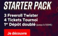 Bonus de bienvenue sur Betclic poker : jusqu'à 500€ + 4 tickets Freeroll à 500€ + 3 tickets Twister à l'inscription