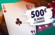 Bonus Unibet Poker de bienvenue : 1er dépôt doublé jusqu'à 500€ + 2 tickets tournois offerts à l'inscription