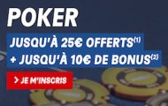 Bonus de bienvenue PMU Poker : 35€ offerts à l'inscription dont 2 tickets Sit & Go Jaqkpot