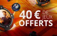Profitez de l'offre PartyPoker de bienvenue : gagnez 15€ ou 40€ de tickets SNG Jaqkpot selon votre 1er dépôt