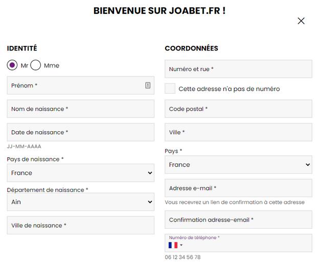 code promotionnel JOABet.fr