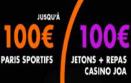 Bonus JOA Bet de bienvenue : un pari de 100€ remboursé + 100 euros en cadeau