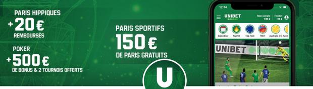 Unibet sport code promotionnel