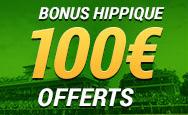 100€ offerts sur France Pari avec le code promo turf