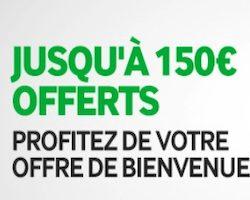 Jusqu'à 150€ offerts sur Betway