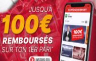 Découvrez le bonus de bienvenue Partouche Sport offert à l'inscription : votre 1er pari perdant remboursé à jusqu'à 100€